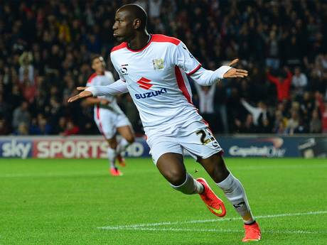 Benik Afobe doesn't see what the big deal is after adding his second and the Dons' fourth to the tally