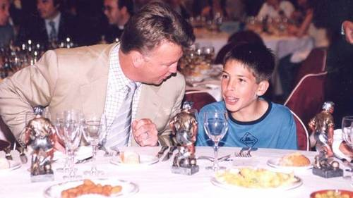Ван Гаал и маленький Хорди Альба, 2002 год.